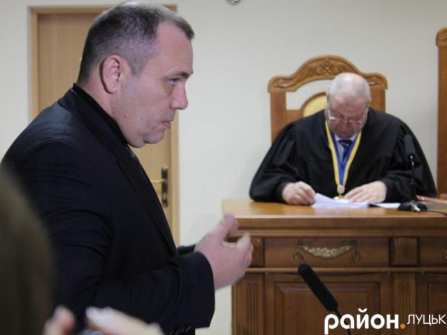 Василь Нагорний під час суду у справі Віктора Котика