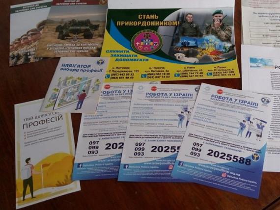 Робота в Україні та Ізраїлі, служба за контрактом, електронні кабінети: працівники центру зайнятості відвідали Дуліби