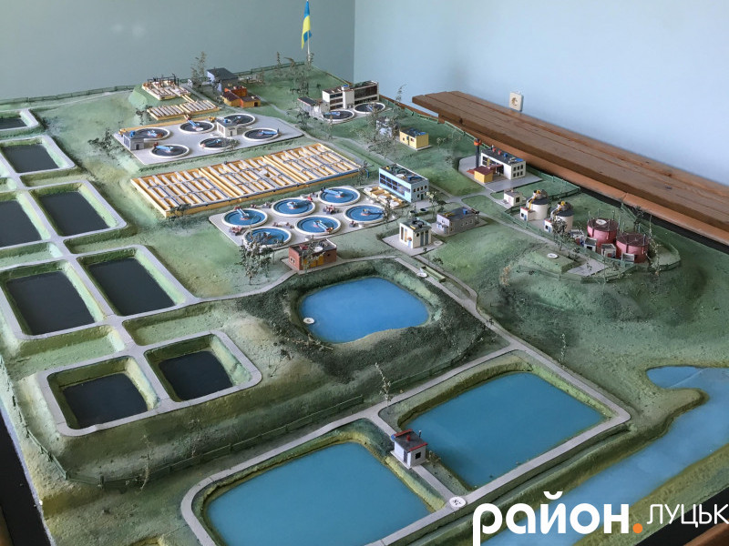 Макет очисних споруд КП «Луцькводоканал»