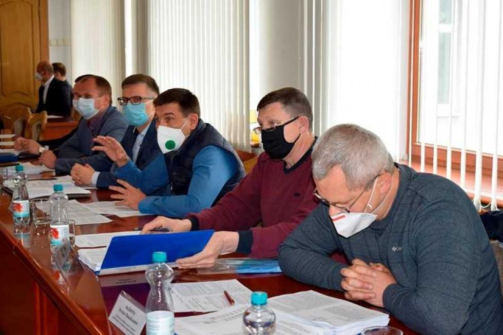 Депутати постійної комісії обласної ради з питань будівництва та розвитку інфраструктури