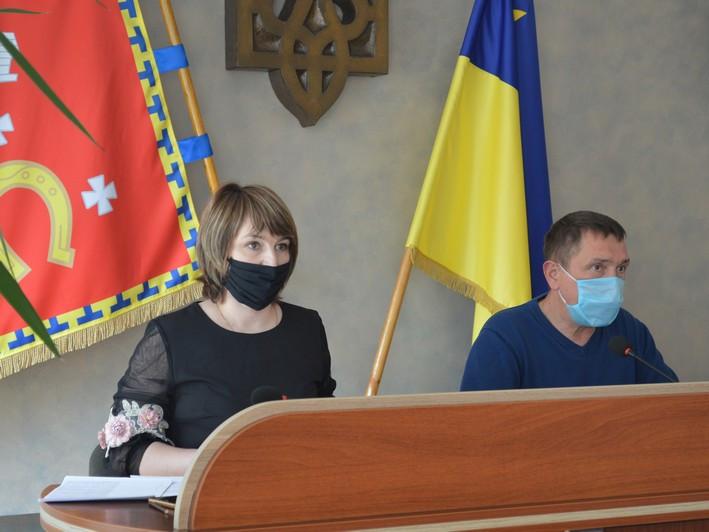 Міський голова Олег Кіндер та секретар міської ради Віри Федосюк