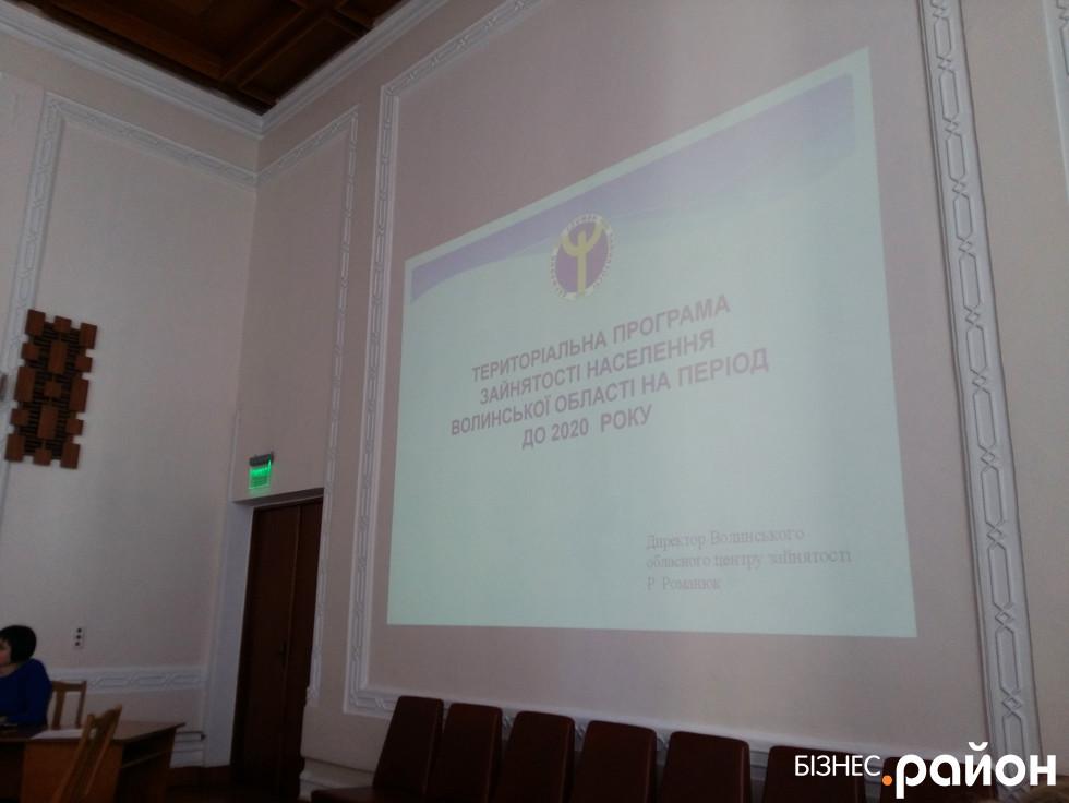 Громадське обговорення проекту Територіальної програми зайнятості населення Волинської області на період до 2020 року