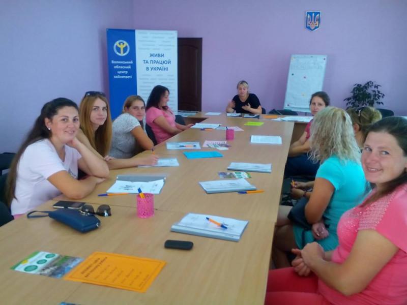 Під час проведення заходу тренер наголосила, що саме жінкам найбільш важко адаптуватись до ринкових змін.