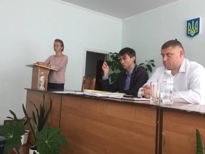 Марія Христецька звітує на сесії