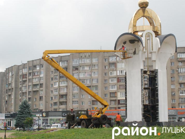Ремонт пам'ятника біля ОДА