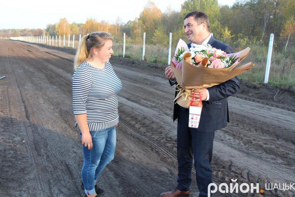 Агроном Катерина Андрійчук свій день народження зустріла на роботі