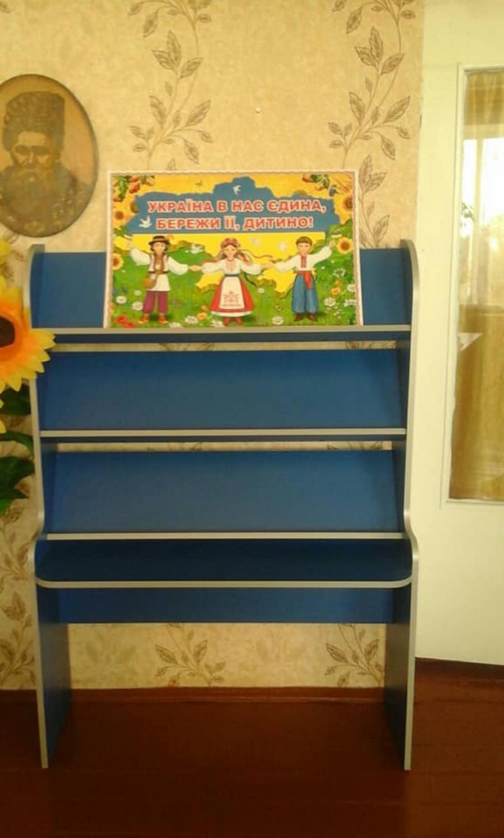 Нові меблі для дошкільнят