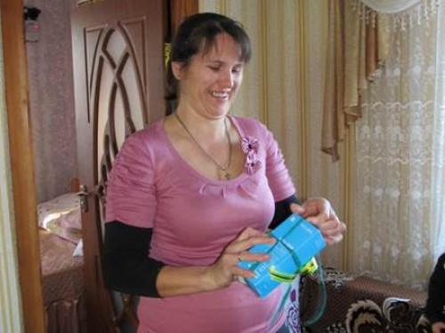 Марія Хомик із призом від «Волиньгазу»