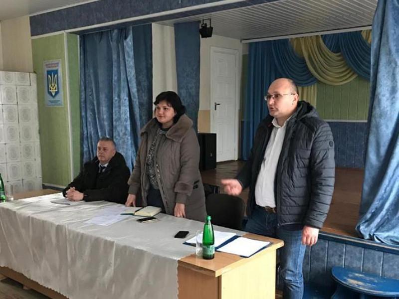 Олег Кух зустрічається з громадою Рудки