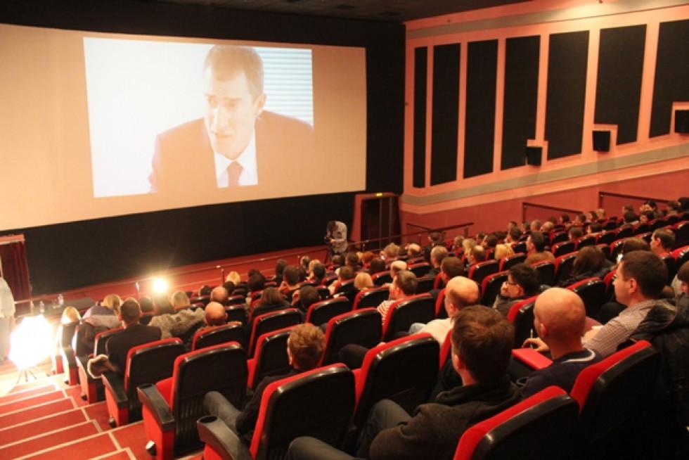 Послухати лекцію від керівника приїхало декілька десятків людей