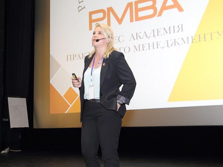 Директорка луцької бізнес-академії PMBA Тетяна Репницька.
