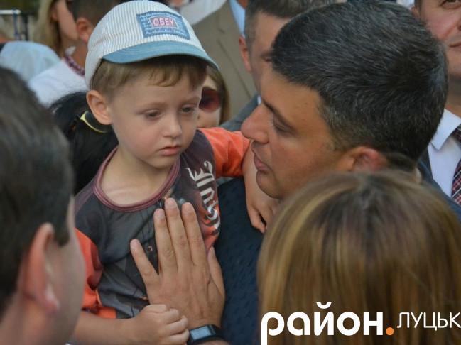 Володимир Гройсман у Луцьку