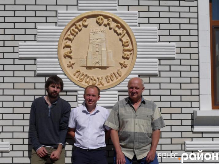 Олександр, Володимир та Анатолій - працівники «Ательє фасадів»