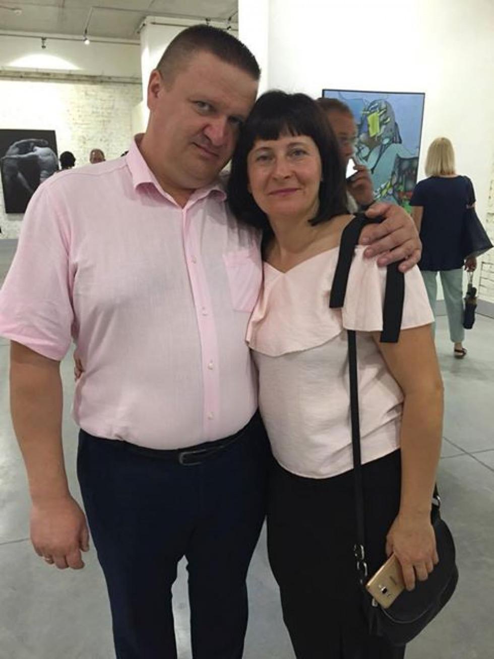 Роман Трофимук із дружиною