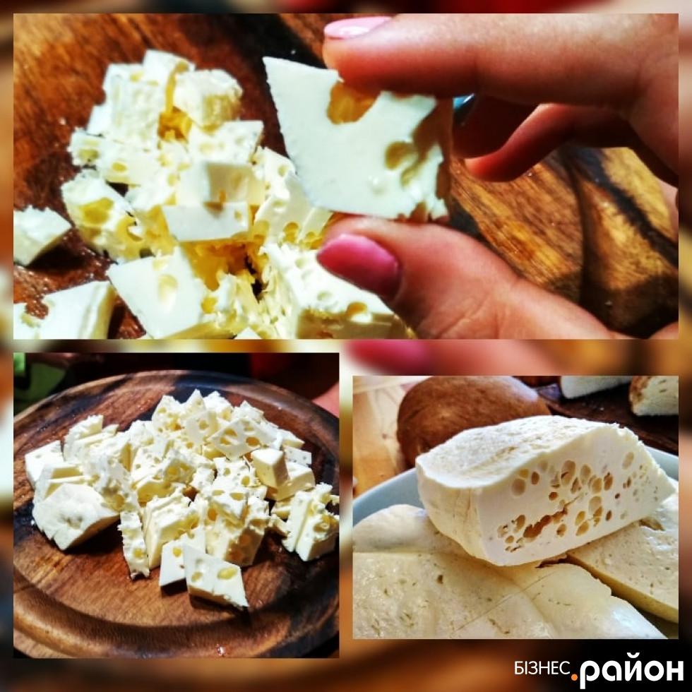 Сир з «дзюрками. Фото Анастасії Кишти