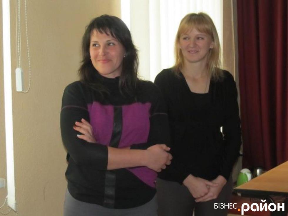 Працівники в клубі села Переславичі