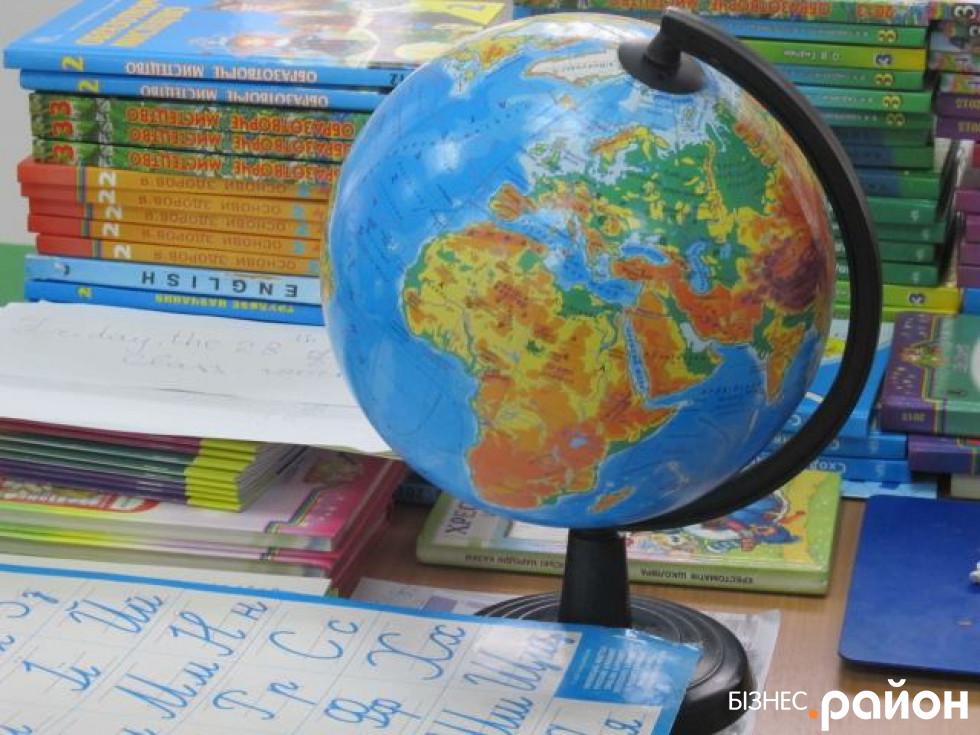 Глобус у школі на столі