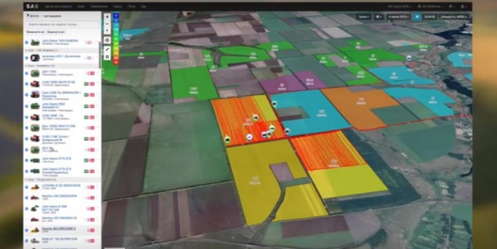 Контроль техніки на полі, моніторинг агрологістики