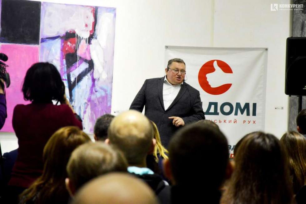 Віктор Корсак у Музеї сучасного українського мистецтва