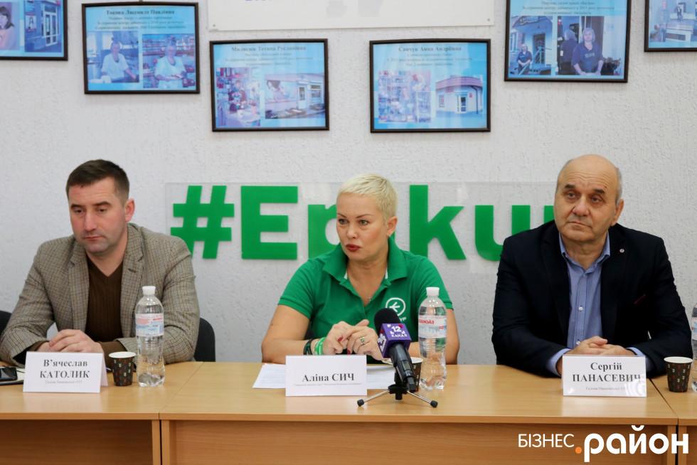 В'ячеслав Католик, Аліна Сич, Сергій Панасевич (зліва на право)